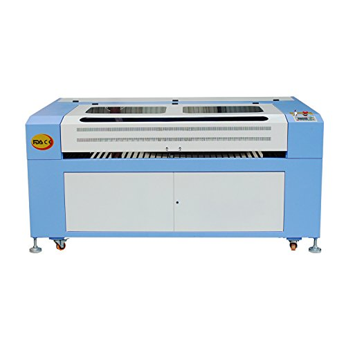 DIHORSE Laser Engraving and Cutting Machine CO2 Laser Engraver 1300mmx900mm Laser Cutter with USB Port (Blue and White) (80W)
