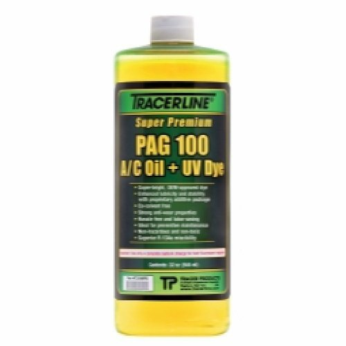32 oz. Bottle PAG 100 A/C Oil with Dye by TRACER PRODUCTS
