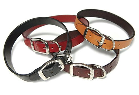 Town Dog Collar - 6 colors - Tan 1in W x 20in