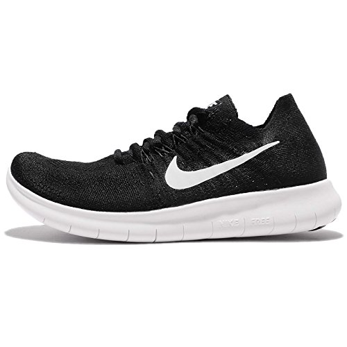 Nike Women's Free RN Flyknit 2017 Running Shoe Black/White-Black 9.5