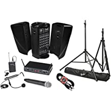 Fender Passport Event Portable PA System Bundle with Samson Concert 288 All-In-One Dual-Channel Wireless System and Accessories (5 items)
