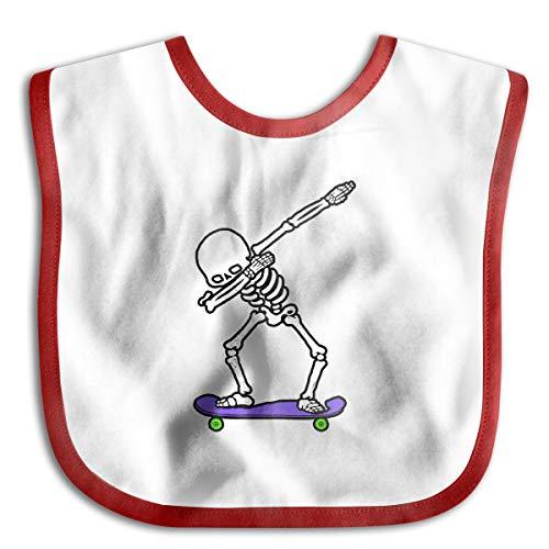 (XHX Baby's Dabbing Skeleton Skateboard Saliva Towel Bibs Burp Cloths)