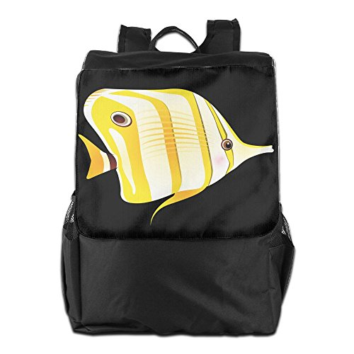 Backpacker Halloween Costume (Benpo Yellow Fish Outdoor Backpack Lightweight Fashion Hiking Rucksack Casual Large Shoulder Book Bags One Size)