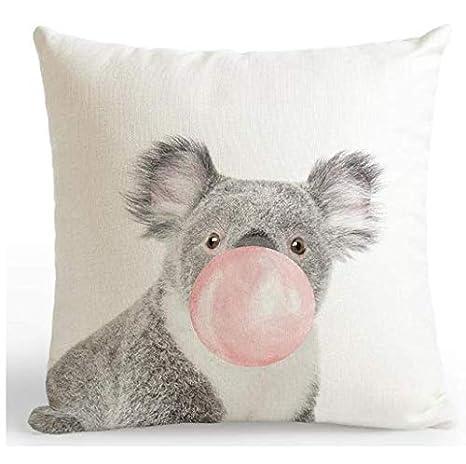 juou Respaldo del Coche Cojín Rosa Decoración Jirafa Koala ...