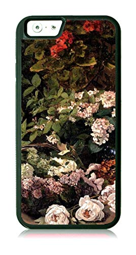 Artist Monet's Spring Flowers Painting Black Rubber Case for The Apple iPhone 6 Plus/iPhone 6s Plus - Apple iPhone 6 Plus Accessories -iPhone 6s Plus Accessories