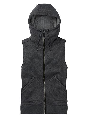 Burton Women's Starr Vest Sweater Fleece True Black Heather Size Medium
