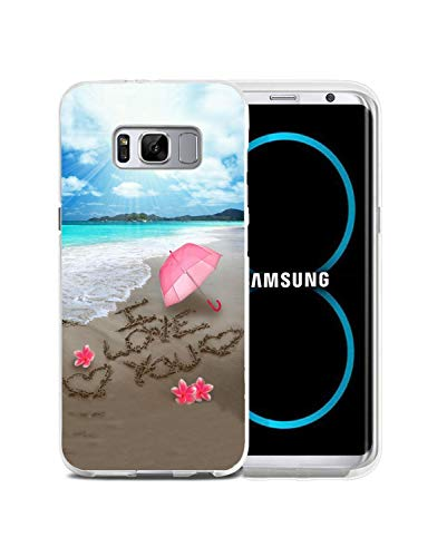 Galaxy S8 Plus Case,BWOOLL Romantic Love Theme, Beach Confession I Love You Design Anti-Scratch Shockproof Hard Plastic Protective Cover Samsung Galaxy S8 Plus - Transparent PC