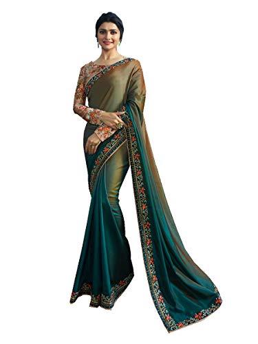 Pakistani Fashion Designers - Delisa Fashion Indian Ethnic Bollywood Saree .Party Wear Saree,Pakistani Designer Sari Wedding, Saree for Womens (Multicolored)