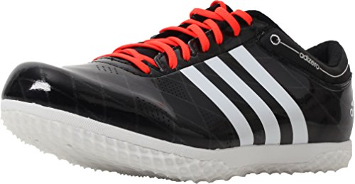 Adidas Menns Adizero Hj Fl Spor Sko Svart-hvitt-solar Rød