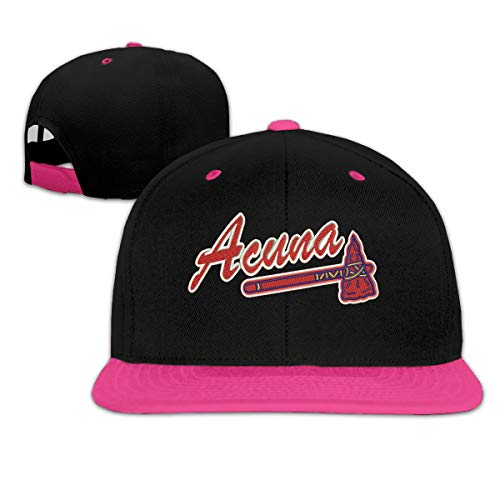 Embroidered Autograph - Adjustable Baseball Cap RED Atlanta Acuna Embroidered Cool Snapback Hats