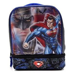 Batman Vs Superman Dual-Compartment Childrens Kids Boys Girls Insulated Lunch Box School Picnic Bag (School Lunch Box Boys)