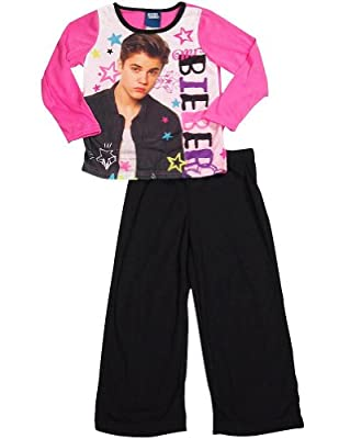 Justin Bieber - Little Girls Long Sleeve Justin Bieber Pajamas