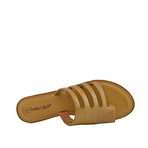 In Color Donna Summer Da Comfort Pelle Tan Footwear Kick Sandali qAv4vI