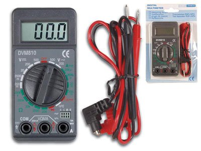 VELLEMAN DVM810 Digit Mini Digital Multimeter, 19 Ranges, 10 Amp Max, 3-1/2
