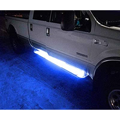 iJDMTOY (2) 40-Inch 63-SMD Flexible LED Running Board/Side Step Lighting Kit Compatible With Ford GMC Chevy Dodge Toyota Nissan Honda Truck SUV, Ultra Blue: Automotive