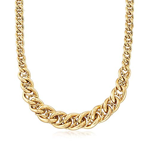 Curb Link Graduated (Ross-Simons Italian 18kt Yellow Gold Graduated Curb-Link Necklace)