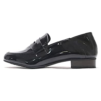 Amazon.com | Womens Glossy Patent Leather Penny Loafers (6 ...