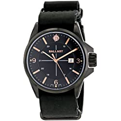 Ballast Men's BL-3132-05 Odin Analog Display Swiss Quartz Black Watch