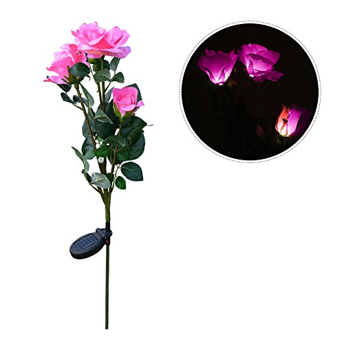 LianLe Rose Flower Lights Solar Powered Garden Outdoor Decorative Landscape LED Rose Lights by LianLe