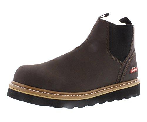 DICKIES Men's GD6112 Ned PT Slip onWork Boot, Chocolate, 9 M