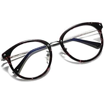 32459aaa9541 VANLINKER Clear Lens Eyeglasses Anti Blue Light Computer Reading Glasses  VL9001 (C9-T Purple Marble Frame Anti-Blue Light Lens