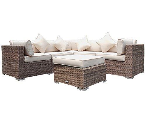 Radeway 6pc Outdoor Patio Furniture Sets Modern Garden Backyard Sectional Wicker  Rattan Sofa Lawn Pool Couch