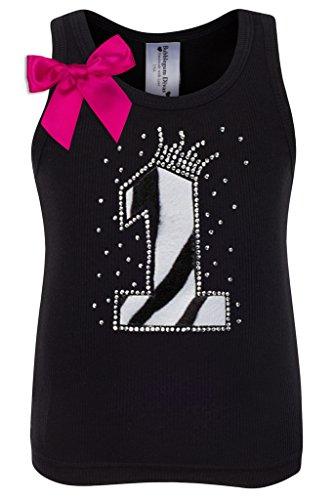Bubblegum Divas Baby Girls 1st Birthday Black White Zebra Print Animal Shirt 12mos