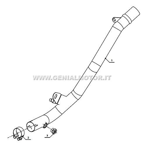 /Échappement Suzuki GSR 600/2006/06/Exhaust mivv dekalyz ator Tube No Cat