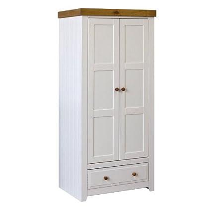 Capri doble armario 2 Puerta 1 cajón pino encerado y pintada en ...