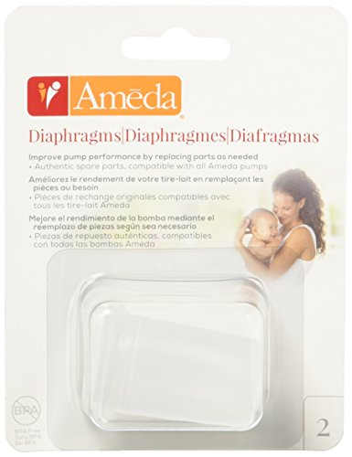 Ameda Silicone Diaphragms Clear 2 Count, Replacement Diaphra
