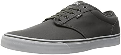 Vans Men Atwood Canvas Low-Top Sneakers, Grey (Pewter/White), 7.5 UK (41 EU),Vn000Tuy