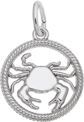 (Sterling Silver Zodiac Cancer Charm)