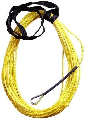 Custom Splice Olive Drab Green AmSteel Blue 3//16 x 50 Foot ATV Winch Rope