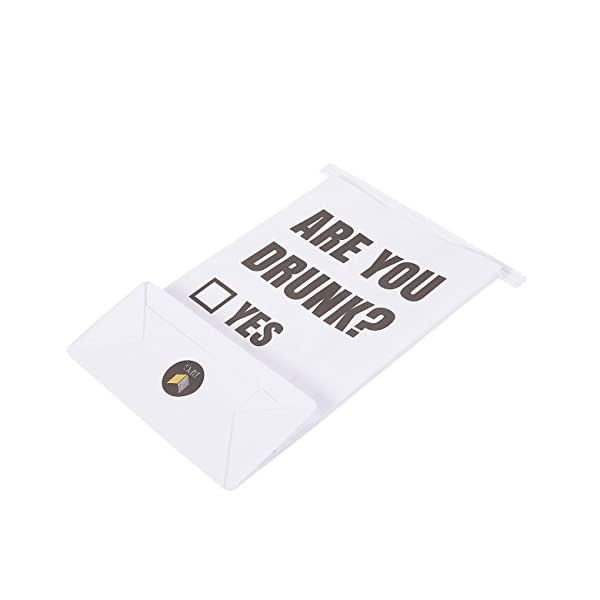 ARE YOU DRUNK 50 Count Vomit Bags White Throw Up Barf Bags For Motion Sickness Morning Sickness And Hangovers Paper Puke Bag With Printed Design 6 X 97 X 26 Inches
