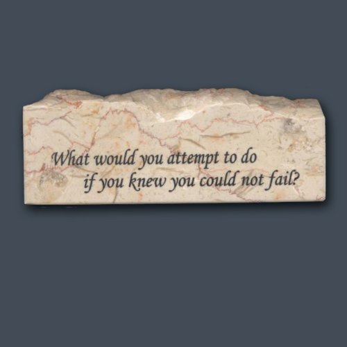 What would you attempt - Inspirational/Scripture Stone