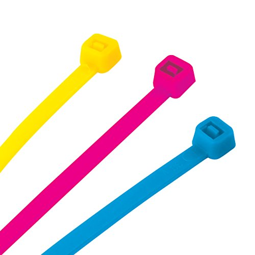 Performance Tool W2929 150pc Neon Cable Tie Set (4'', 8'' and 12'') by Performance Tool