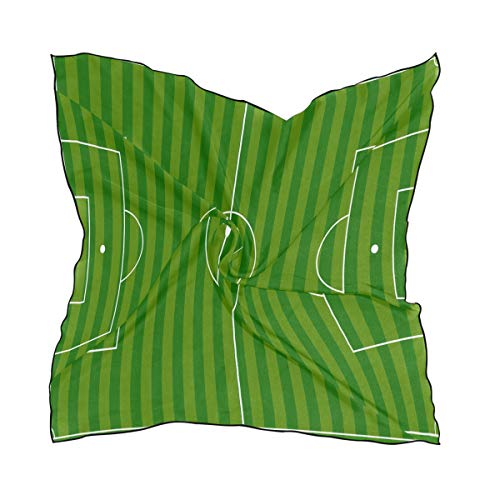 Scarf Soccer Field Green Womens Square Silk Scarves -
