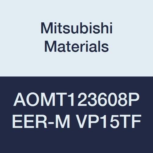 Mitsubishi Materials AOMT123608PEER-M VP15TF Coated Carbide Milling Insert, Class M, Round Honing, Parallelogram 85°, Grade VP15TF, 0.142'' Thick, 0.031'' Corner Radius (Pack of 10)