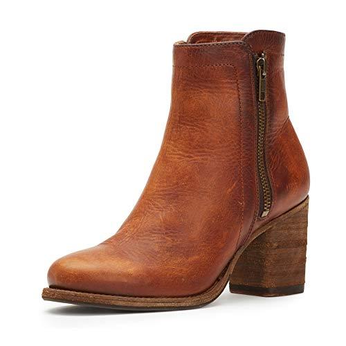 FRYE Women's Addie Cognac Double Zip Boot Round Toe - 79830-Cog Cognac