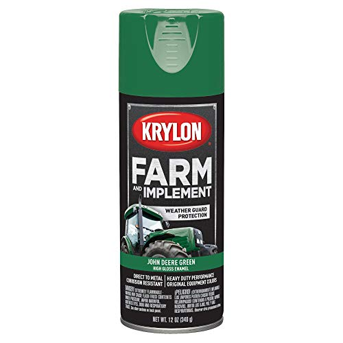 Krylon K01932000 Farm & Implement Paint, 12 oz, John Deere Green