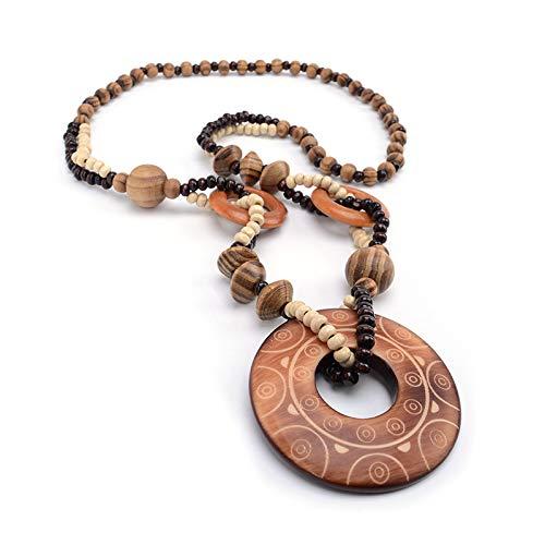 Collar etnico en madera: Amazon.es: Handmade
