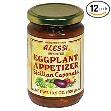 Alessi Sicilian Eggplant Caponata Appetizer, 10.5 Ounce -- 12 per case.