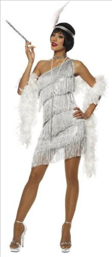 Adult Dazzling Flapper Costume - Medium - Speakeasy Flapper Costume