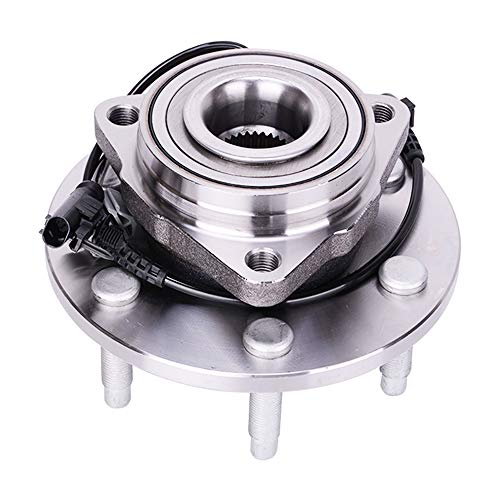 515096 Front Wheel Hub and Bearing Assembly for Chevrolet Silverado, Suburban, Tahoe, Avalanche, GMC Sierra,Yukon, Cadillac Escalade, ABS Sensor and 6 Lug ()