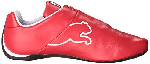 Puma Mens Framtida Katt Läder Ferrari Sneaker Rosso Corsa Vitt