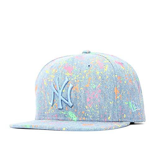 (ニューエラ) NEW ERA キャップ スナップバック 9FIFTY NEON SPLASH DENIM MLB ニューヨークヤンキース ウォッシュドデニム FREE (サイズ調整可能)