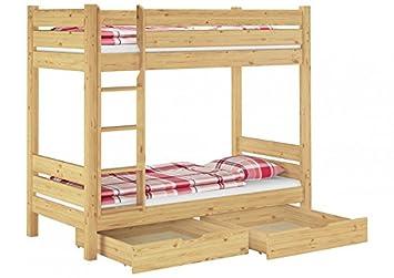 Etagenbett Erwachsene 100x200 : Erst holz  m s etagenbett extra stabil kiefer cm