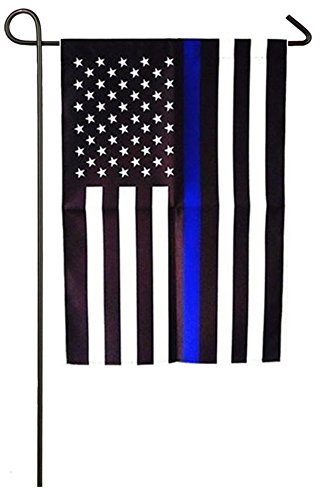Consio Thin Blue Line Police American US Garden Flag 12.5 x