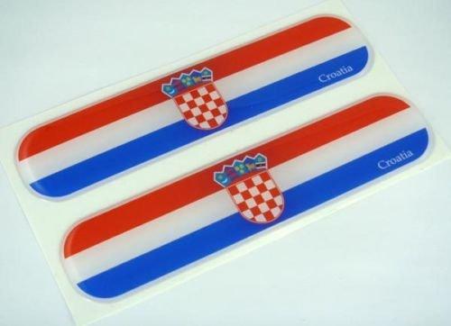 Croatia Croatian Flag Domed Decal Emblem Car Flexible Sticker 5
