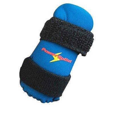 PowerSplint PRO - sports finger splint guard protector (blue, medium) by Powersplint